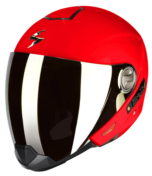Scorpion Exo 300 Air flip off helmet Neon Red
