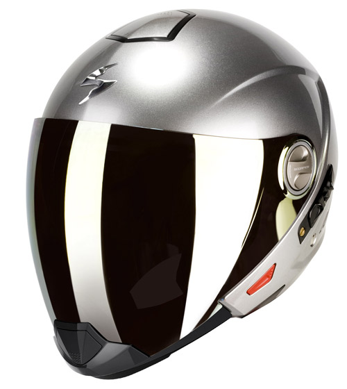 Scorpion Exo 300 Air flip off helmet Hypersilver