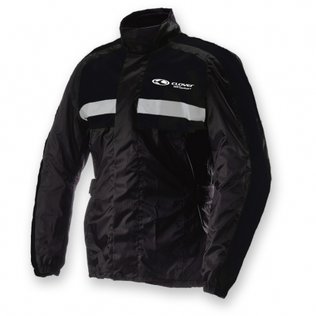 Clover Wet Rain Jacket Black