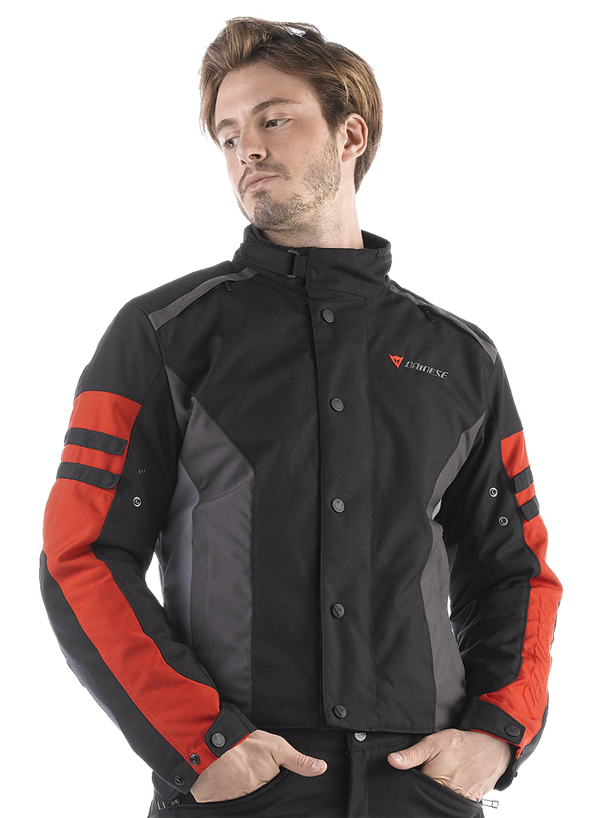 Giacca moto Dainese Xantum D-Dry nero-castle rock-rosso