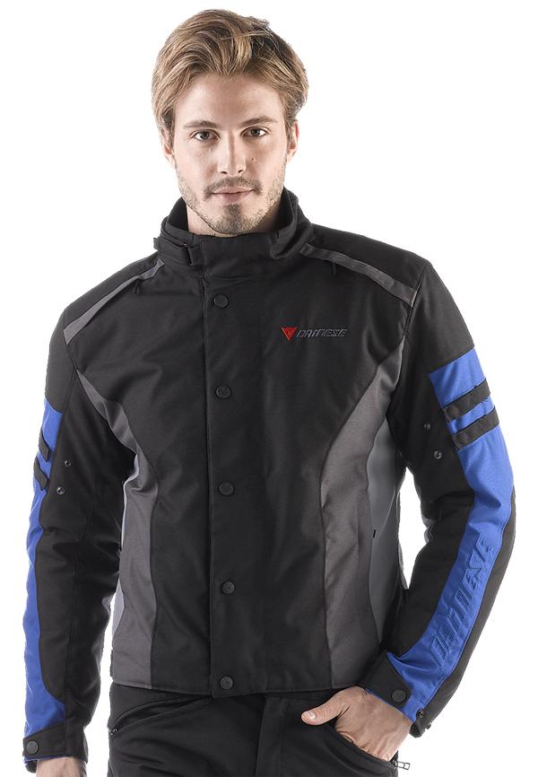 Dainese Xantum D-Dry motorcycle jacket black-castle rock- blue