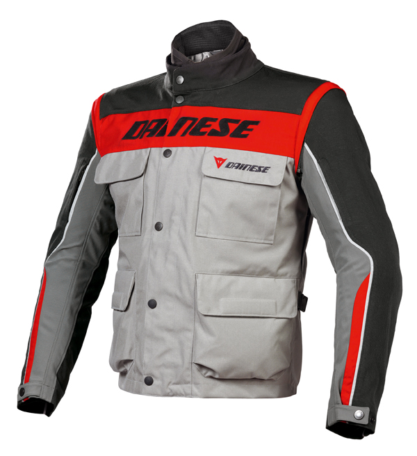 Giacca moto Dainese Evo-System D-Dry Steeple Gray-nero-rosso
