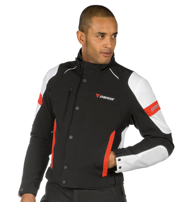 Dainese Avro D-Dry motorcycle jacket black-white-red