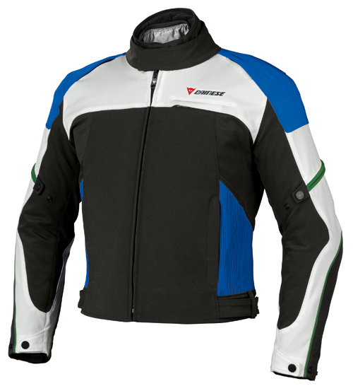 Dainese Atallo D-Dry motorcycle jacket black-dawn blue-princess