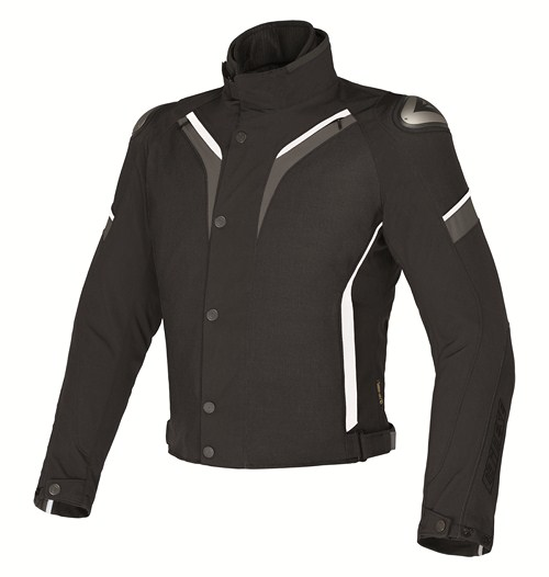 Dainese Aspide D-Dry motorcycle jacket black-dark gull gray-whit