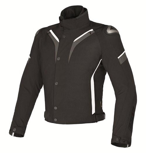 Giacca moto Dainese Aspide D-Dry nero-dark gull gray-bianco