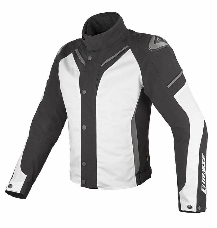 Jacket Dainese Aspide D-Dry Black White Dark gull gray