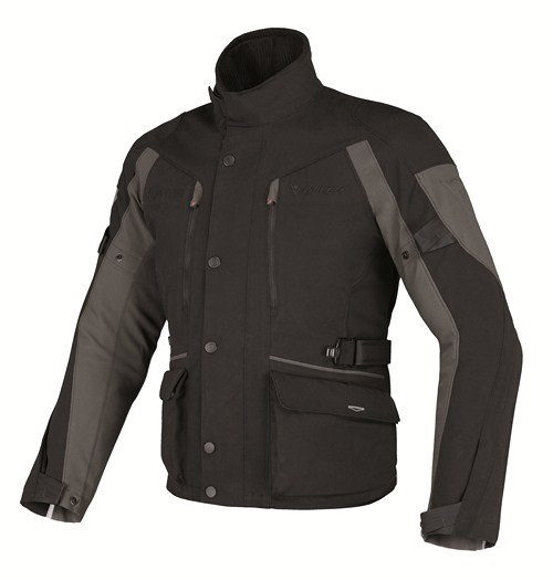 Dainese Temporale d-Dry jacket black-black-dark gull gray