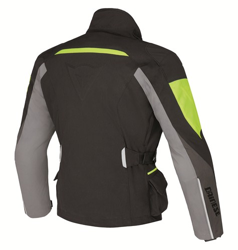 Dainese Temporale Lady D-Dry jacket black-dark grey-yellow