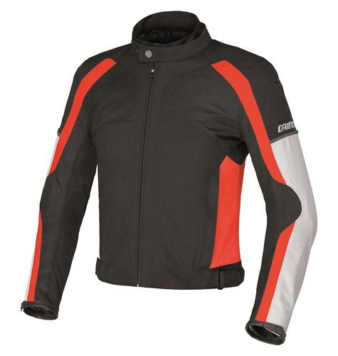Dainese Spedio D-Dry motorcycle jacket black-red high rise