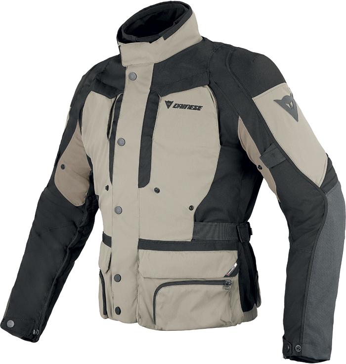 Giacca moto Dainese D-Stormer D-Dry Peyote Nero Simply taupe