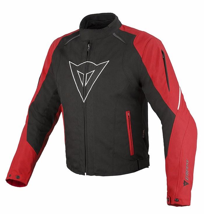 Giacca moto Dainese Laguna Seca D-Dry Nero Rosso Bianco