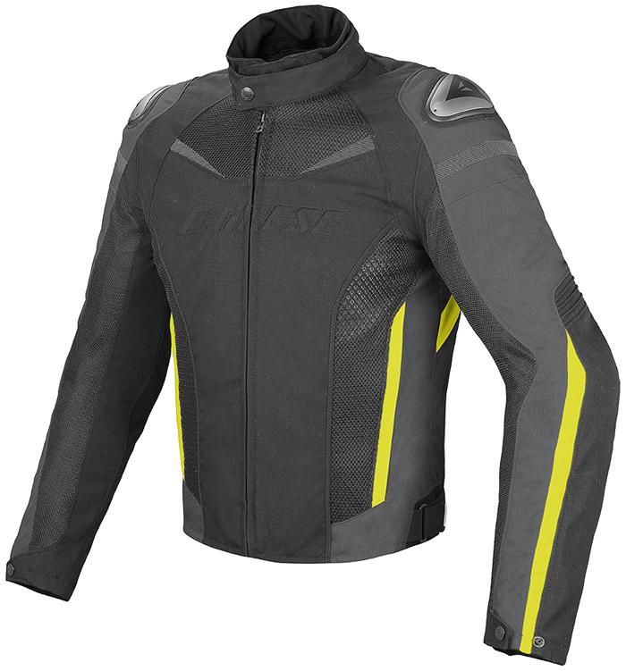 Dainese Super Speed D-Dry jacket Black Dark Gull Yellow