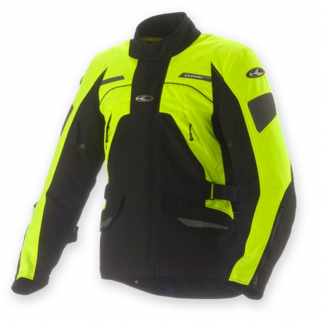 Motorcycle jacket Clover Commander WP 3 layer Black Yellow