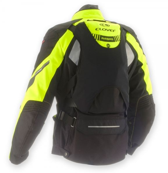 Clover GTS WP Airbag 3 layers jacket Black Yellow