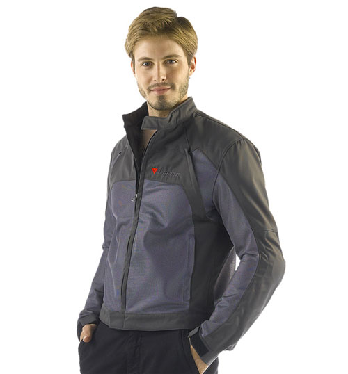 Dainese Air-Flux Tex summer motorcycle jacket titanium