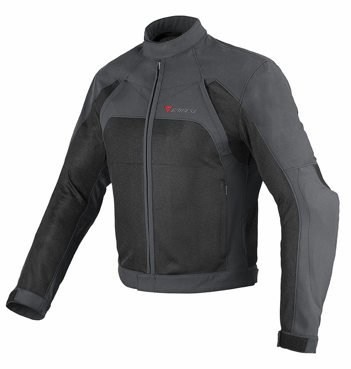 Motorcycle jacket Dainese Air Flux Tex Dark Gull Gray Black