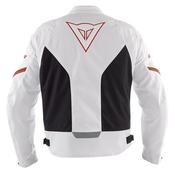 Dainese Racing Tex motorcycle jacket white-black