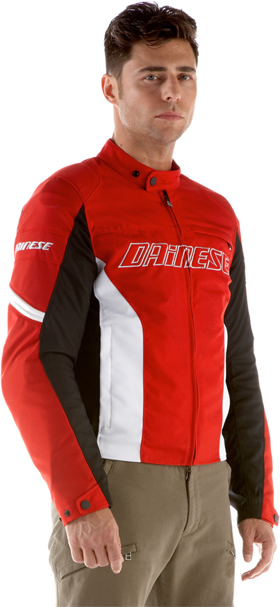 Dainese Racing Tex motorcycle jacket red-white