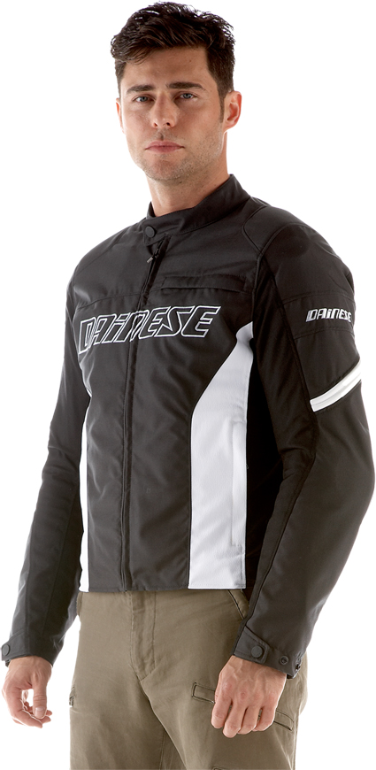 Dainese Racing Tex motorcycle jacket anthracite-white