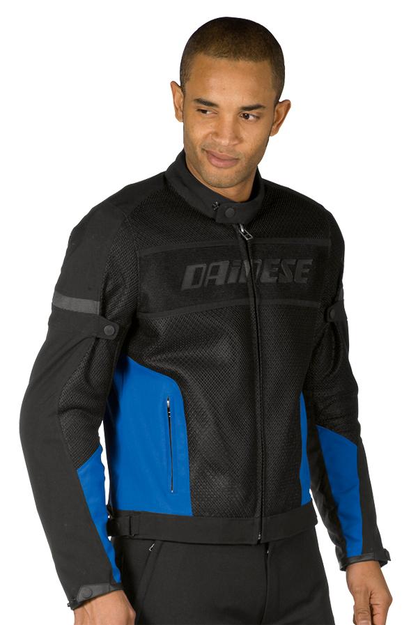 Dainese Air-Frame Tex summer motorcycle jacket black-blue