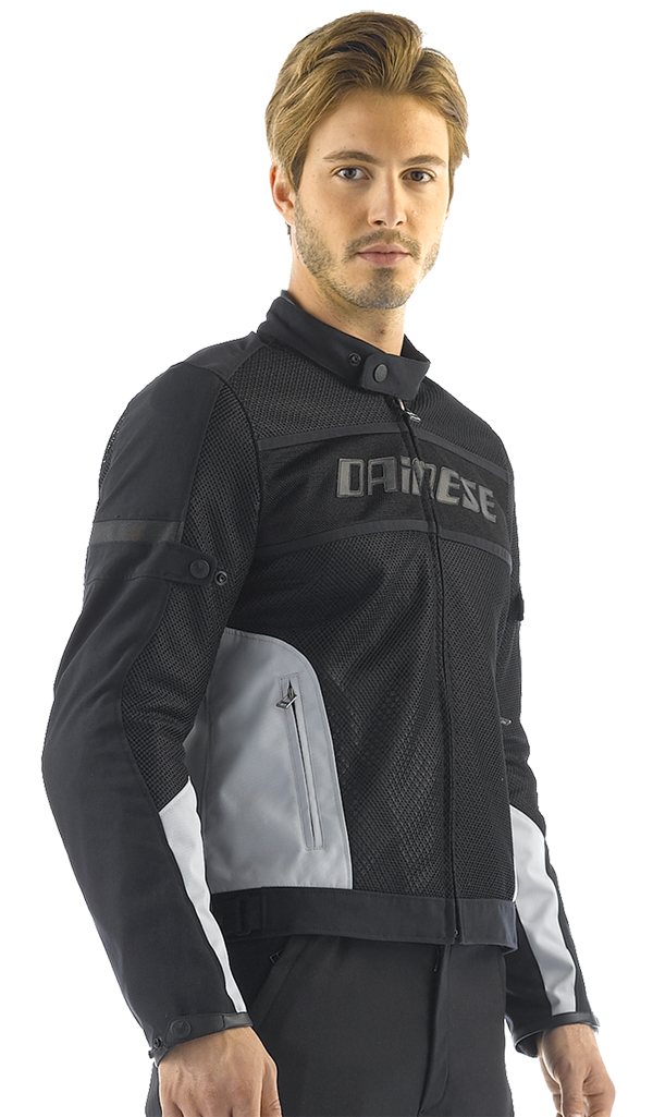 Dainese Air-Frame Tex summer motorcycle jacket black-high rise