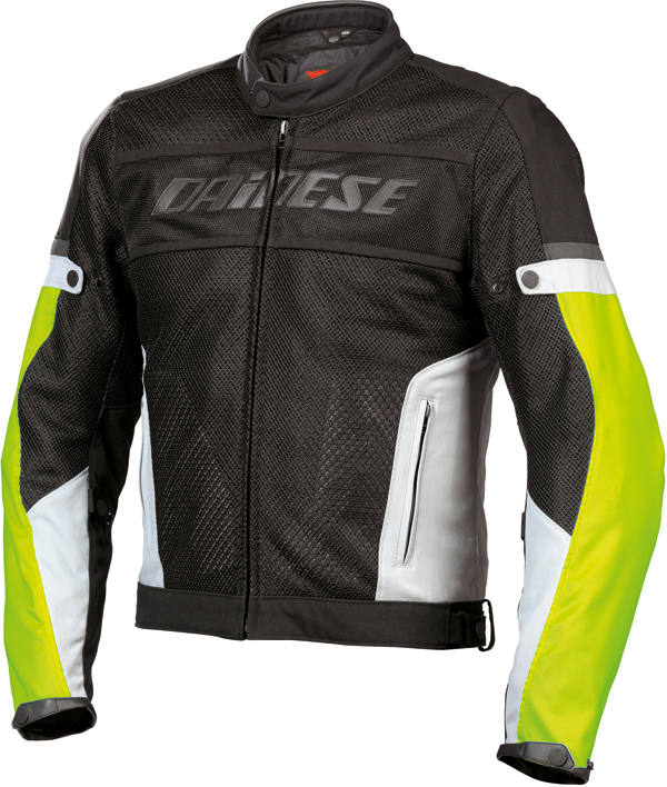 Dainese Air-Frame Tex summer motorcycle jacket black-gray-yellow