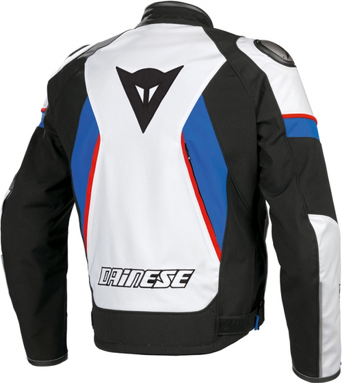 Dainese Aspide Tex motorcycle jacket black-white-blue
