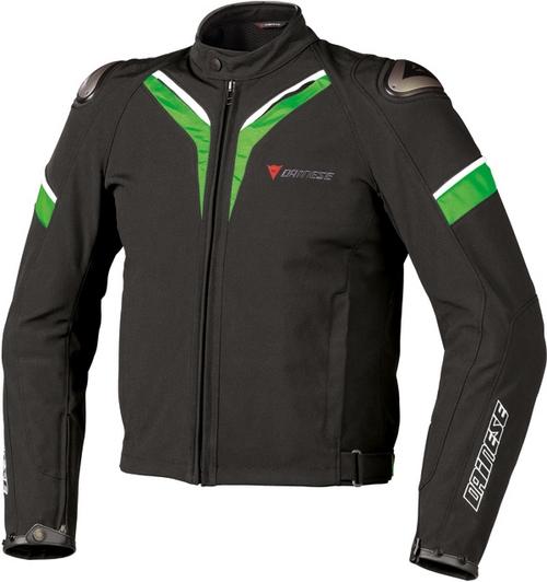 Dainese Aspide Tex motorcycle jacket black-black-green
