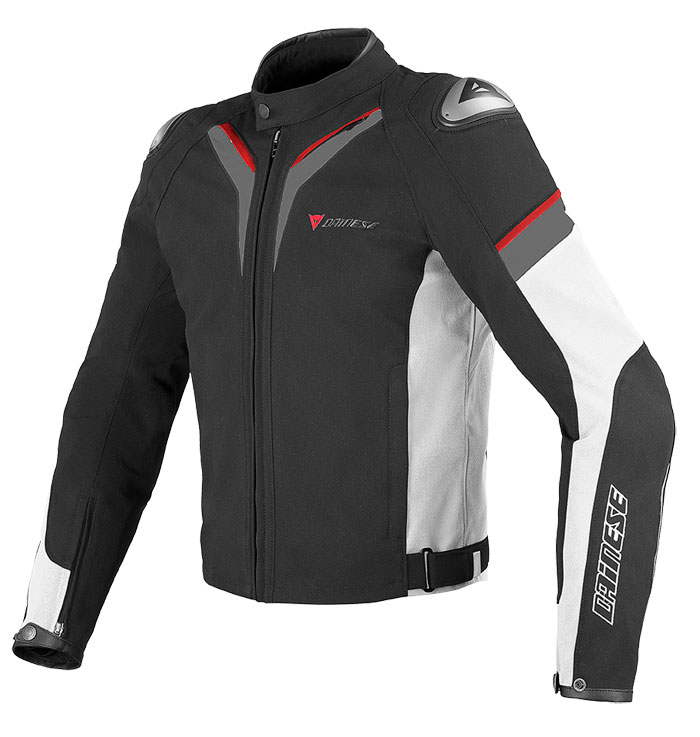 Dainese Aspide Tex Jacket White Black Dark gull gray