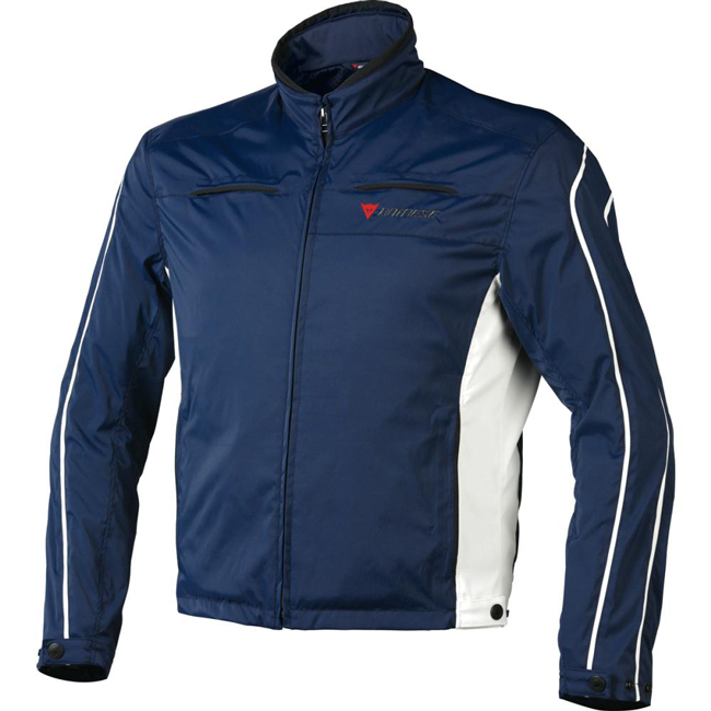Dainese Tron 2 tex motorcycle jacket dark blue barely blue