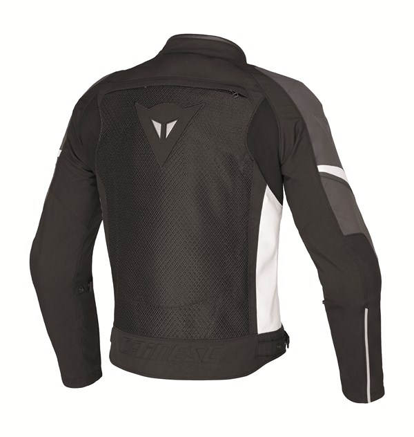 Dainese AIR-3 TEX motorcyle jacket black-anthracite-white