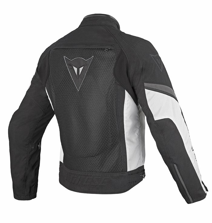 Motorcycle jacket Dainese Air Tex 3 Black White Dark gull gray