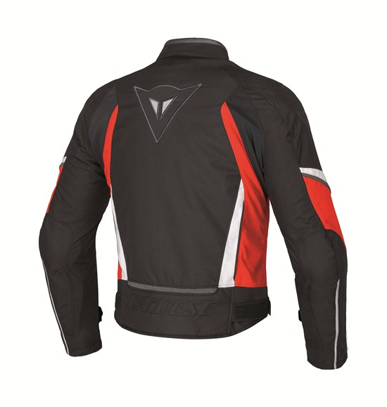 Dainese Crono Tex Lady motorcycle jacket black red white