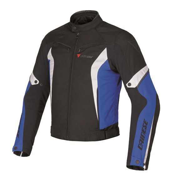 Dainese Crono Tex Lady motorcycle jacket black blue white