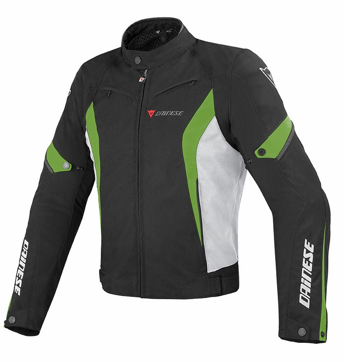 Tex jacket Dainese Chrono Black White Green