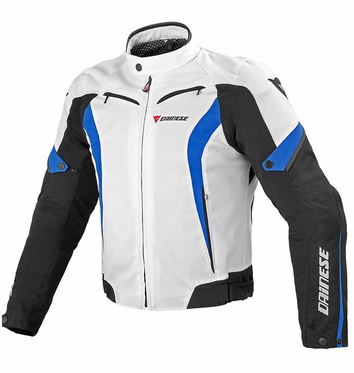 Tex jacket Dainese Chrono White Black Blue
