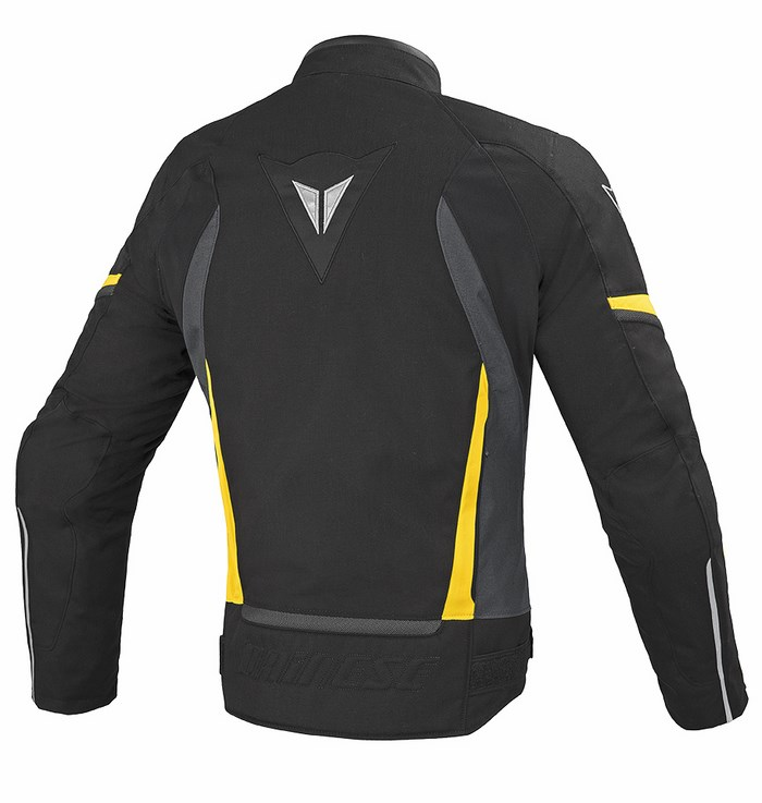 Tex jacket Dainese Chrono Black Dark gull gray Yellow