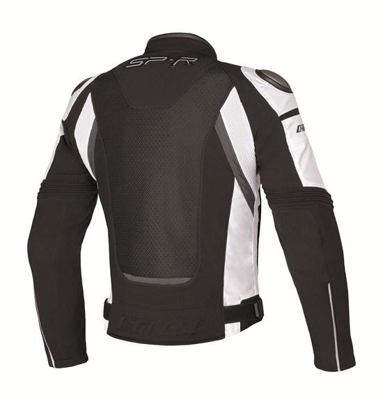 Dainese Super Speed Tex motorcycle jacket black-white-gray