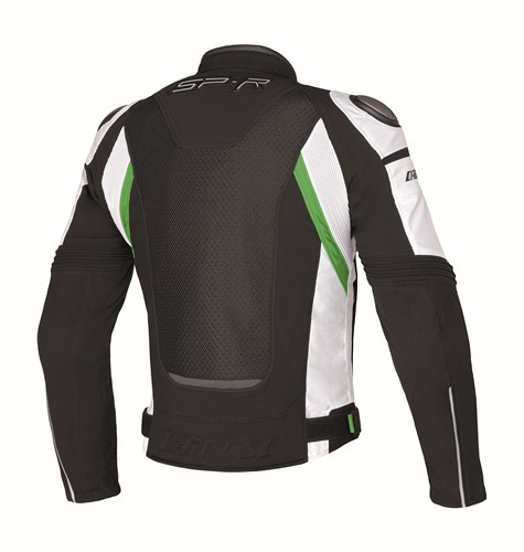 Dainese Super Speed Tex motorcycle jacket black-white-green