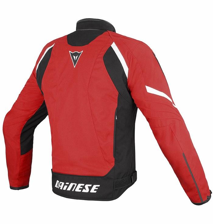 Giacca moto Dainese Laguna Seca Tex Rosso Nero Bianco