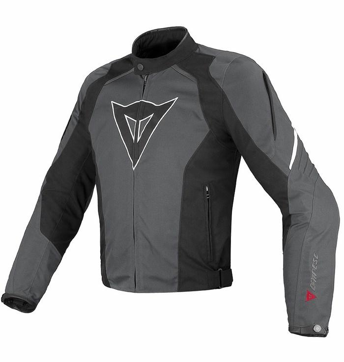 Giacca moto Dainese Laguna Seca Tex Dark gull gray Nero Bianco