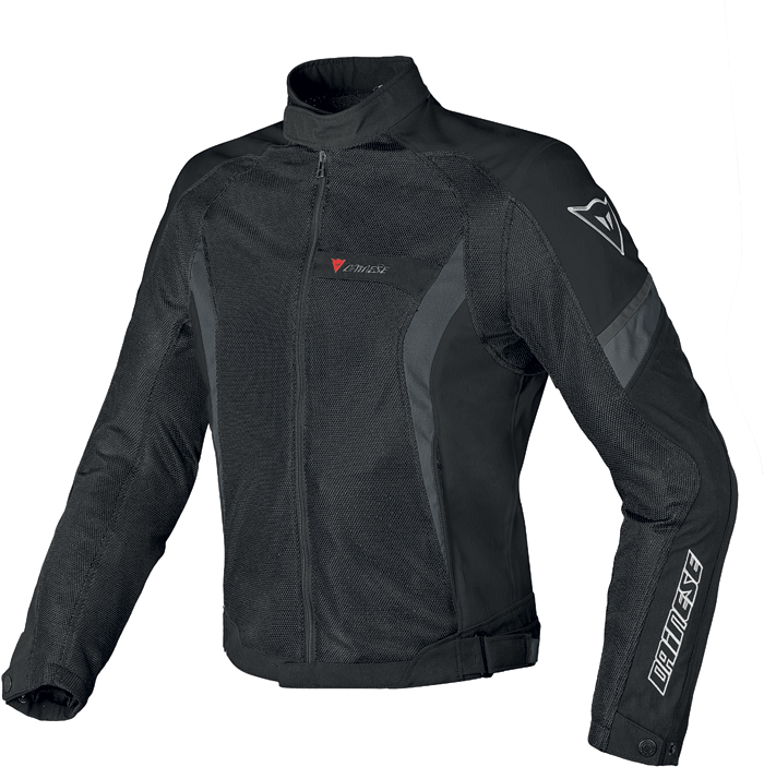Giacca moto Dainese Air Crono Tex nero nero dark gull gray