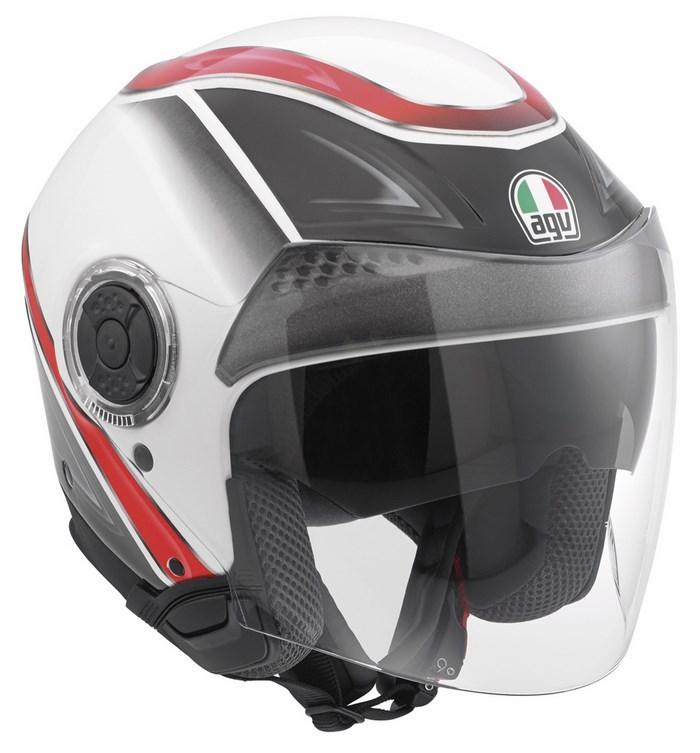 Agv City New Citylight Multi Urbanrace helmet white black-red