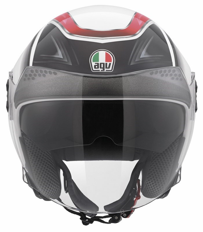 Casco moto Agv City New Citylight Multi Urbanrace bianco nero ro
