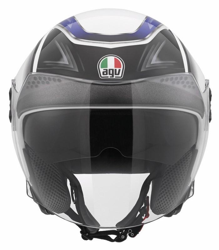 Casco moto Agv City New Citylight Multi Urbanrace bianco nero bl