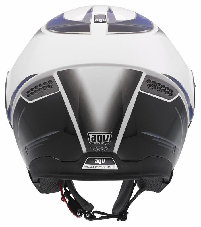 Agv City New Citylight Multi Urbanrace helmet white-black-blue