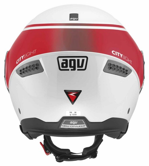 Agv New Citylight Multi World jet helmet white-red