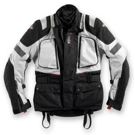 Clover Road WP Level 1 Waterproof Motorcycle Jacket Black Grey