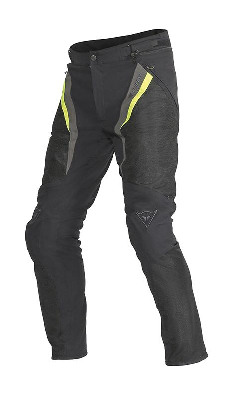 Pantaloni moto estivi Dainese Drake Super Air Tex Nero Giallo